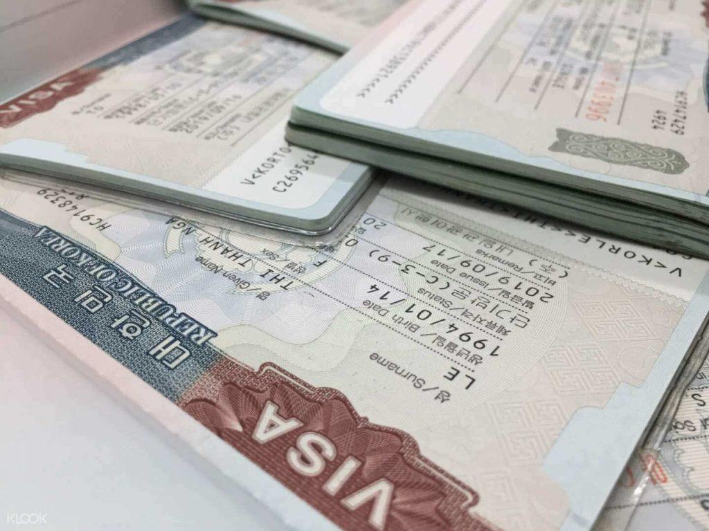 thủ tục xin visa Hàn Quốc